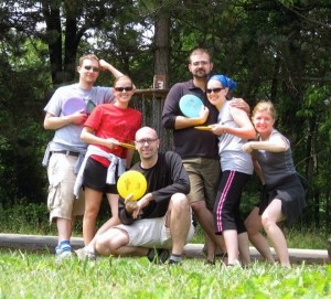Disc golf in Ohiopyle with some great friends