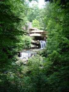 Frank Lloyd Wright House built on a waterfall