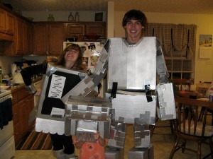 Robots - Probably the most work intensive costume to appear at our Halloween party ever!
