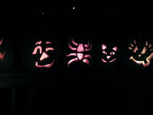 Pumpkin carving fun