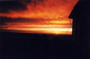 Grave Peak sunset.  July 4, 2001