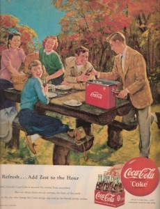 Idealistic, life is beautify.  You drink coke because it will make everything great.