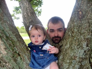 Mikayla and me at 4 months at Jackson's Orchard.